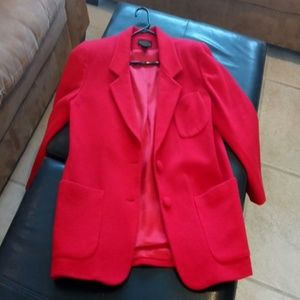 Express beautiful cherry red wool/nylon blazer